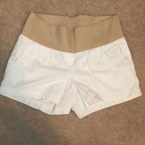 Loft maternity white shorts sz 2
